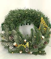 """Новогодний венок на двери с украшениями 45 см """"New Year"""".Рождественский венок."""