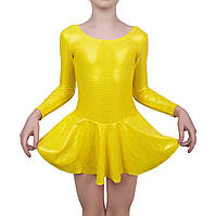 Купальник для танцев и гимнастики Rivage line 6055 блестящий желтый