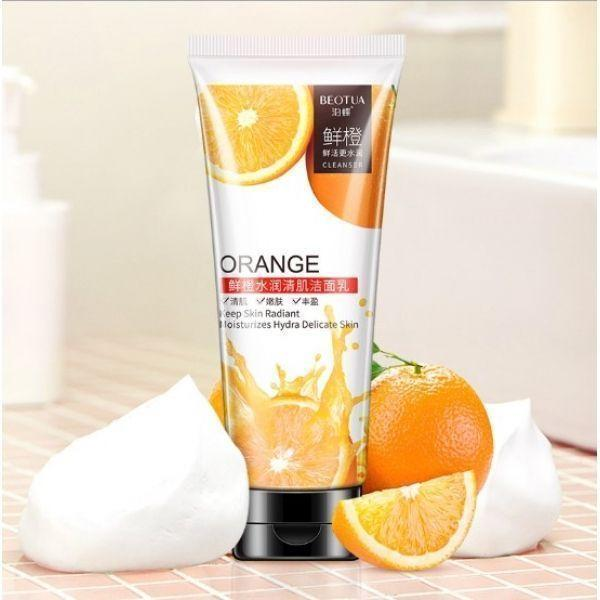 Пенка для умывания BEOTUA ORANGE CLEANSER Keep Skin Radiant Moisturizes Hydra Delicate Skin с экстрактом
