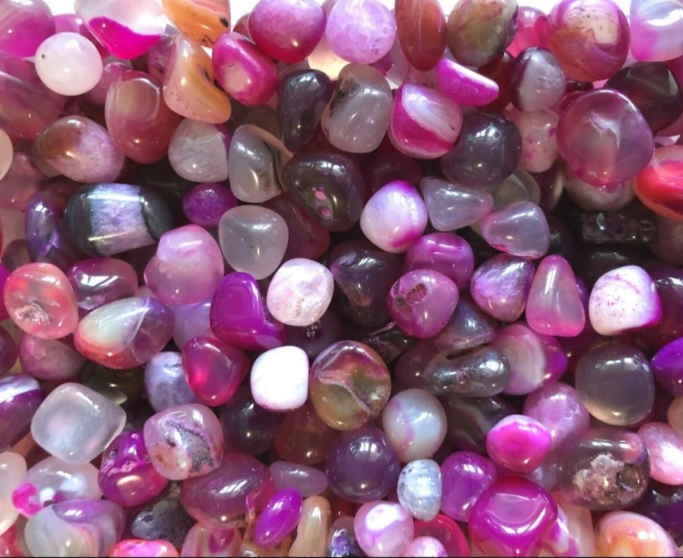 Камень натуральный агат розовый,округленный,фракция размер 10-22 мм, 30г