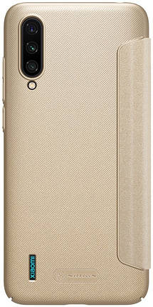 Чохол-книжка Nillkin Sparkle Leather Case Xiaomi Mi CC9 Gold #I/S, фото 2
