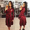 Женское красивое платье Шанель в клеточку + большие размеры