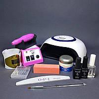 Стартовий набір для нарощування нігтів з лампою BQ-V1, фото 1