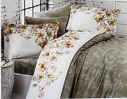 Комплект постельного белья First Choice De Luxe ранфорс зеленый