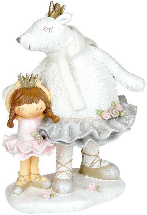 Декоративная статуэтка «Малышка с медведицей» 14х11.7х19.5см
