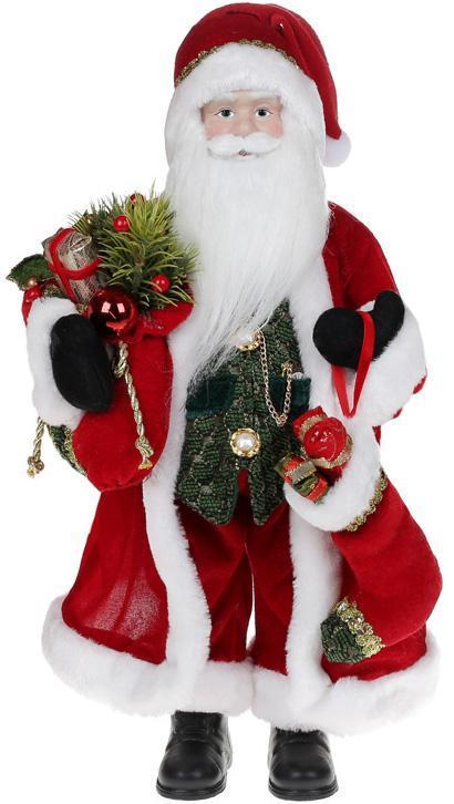 Фигура «Санта с носком» 46см (мягкая игрушка), красный