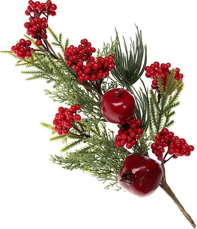 Декоративная ветка «Ягоды и фрукты» 46см