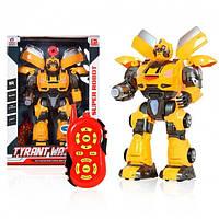 Робот-трансформер Defa Toys Бамблби Transformers на р/у свет, звук, стреляет, 12 функций 36 см