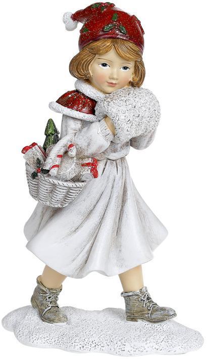 Статуэтка декоративная «Девочка с муфтой» 12х9х19см