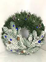 """Новогодний венок с украшениями 35 см """"New Year"""".Рождественский венок."""
