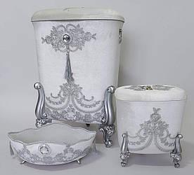 Корзины для белья в ванную комнату (3 шт в комплекте)