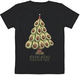 "Детская футболка ""Avocato Christmas Tree"" (чёрная)"