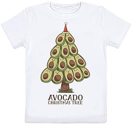 "Детская футболка ""Avocato Christmas Tree"" (белая)"