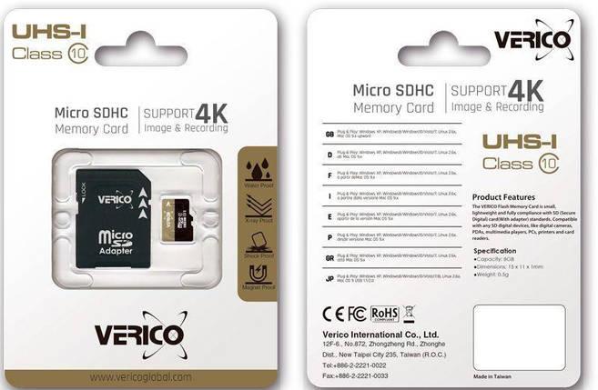 Карта памяти Verico microSDHC/SDXC Class 10 UHS-I SD adapter 32 Gb #I/S, фото 2