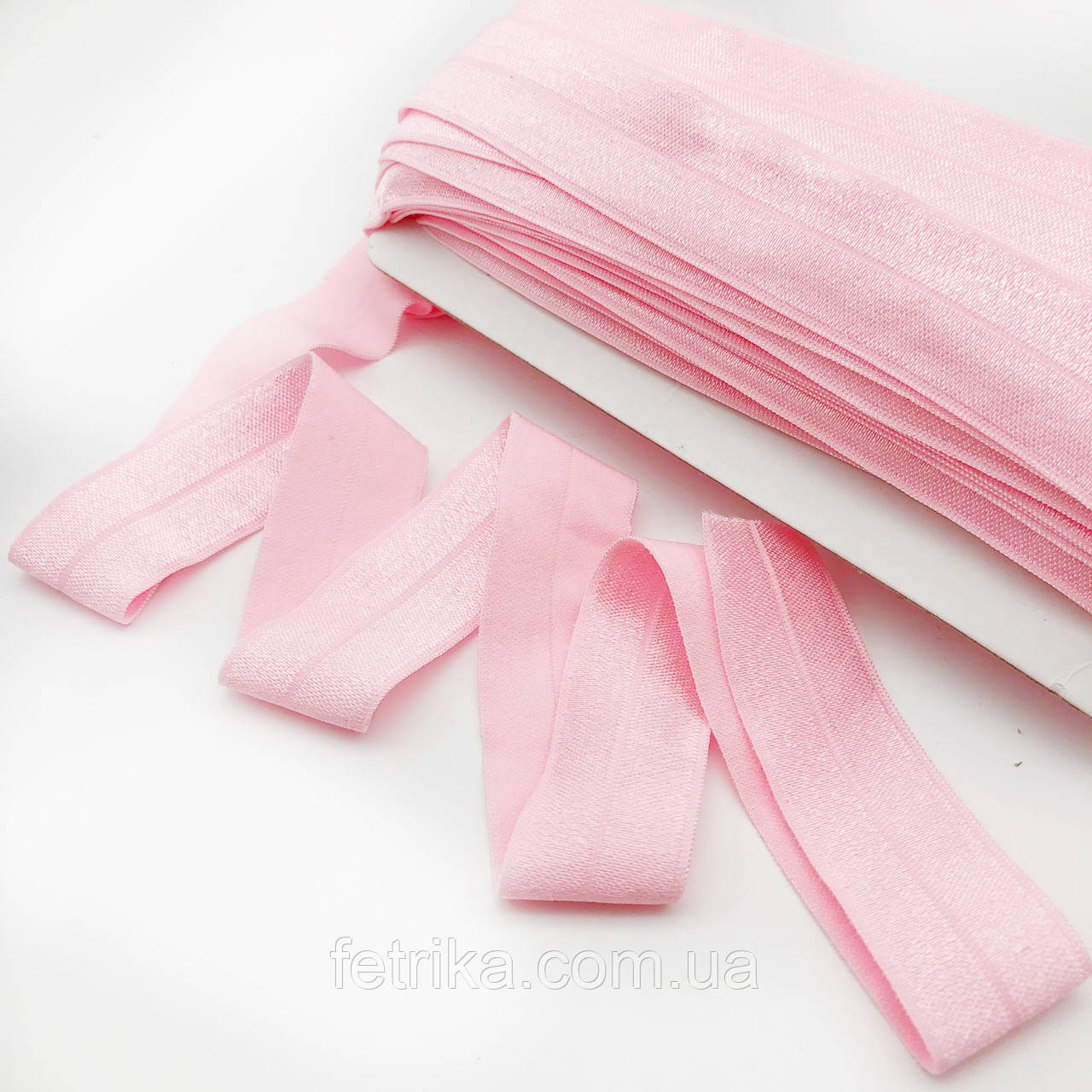 Лента стрейчевая (Резинка для повязок) розовая 2,5 см
