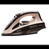 Праска MAGIO MG-134 бежевий,2400Вт. керамічне покриття, відпарювання, розбризкування, пар.удар,с-ма Magio