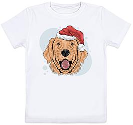 """Детская футболка """"Christmas Dog Claus Animal"""" (белая)"""