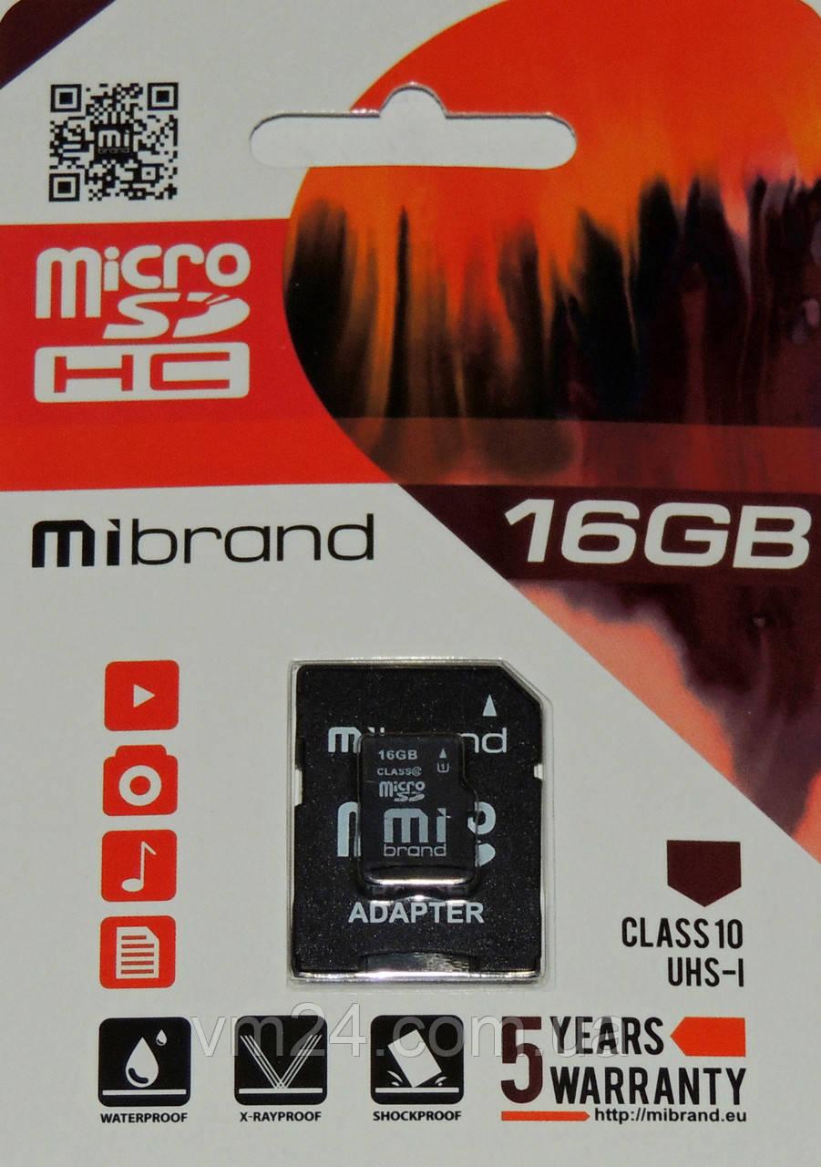 Карта пам'яті  MicroSDHC 16GB UHS-1 SpeedFlash  Class 10 гарантія 2 роки