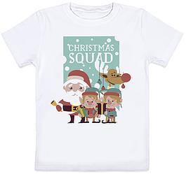 """Детская футболка """"Christmas Squad"""" (белая)"""