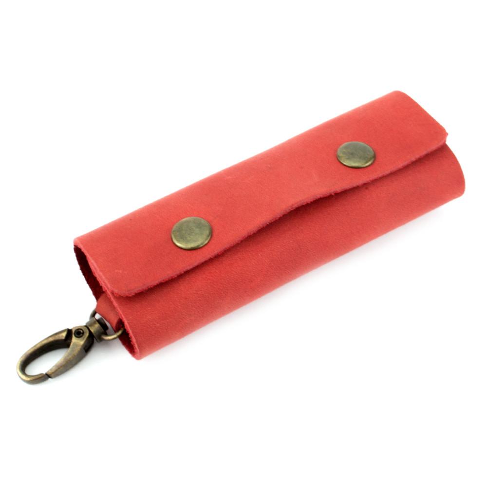 Ключница кожаная с карабином HandyCover HC0055 красная
