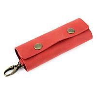 Ключница кожаная с карабином HandyCover HC0055 красная, фото 1