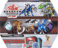 Набор из 4 бакуганов Spin Master Bakugan Armored Alliance: четыре бакугана с оружием