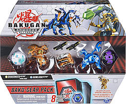 Набор из 4 бакуганов Spin Master Bakugan Armored Alliance: четыре бакугана с оружием