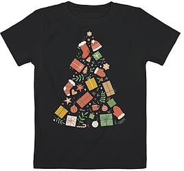 "Детская футболка ""Christmas Tree"" (чёрная)"