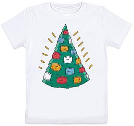 """Детская футболка """"Christmasks"""" (белая)"""