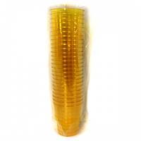 Стакан стекловидный 200мл 25шт желтый (метка-200)