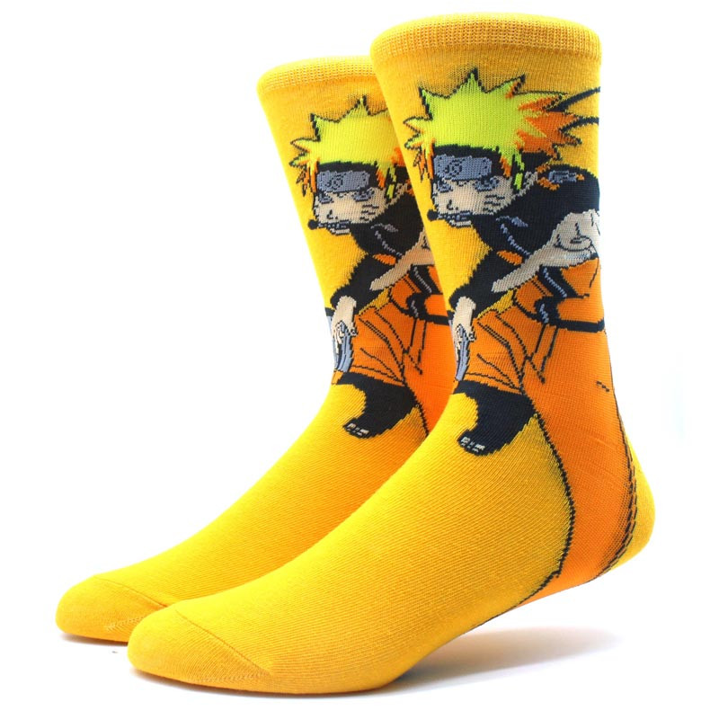 Мультяшные высокие мужские носки с принтом Наруто