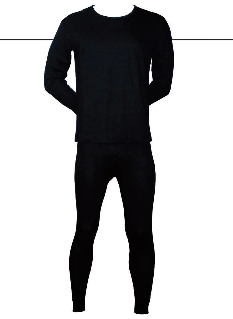 Чоловічі термо комплект (лосини+кофта) «Incont» 3XL чорні (3837)