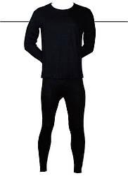 Мужские термо комплект (лосины+кофта) «Incont» 3XL черные (3837)