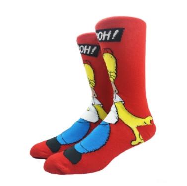Мультяшные высокие мужские носки Гомер Симпсон