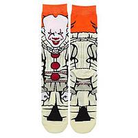 Прикольні високі чоловічі шкарпетки з принтом клоуна Пеннівайза, фото 2