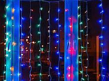 Электрическая гирлянда Водопад 240 LED 2 м х 2 м, мульти