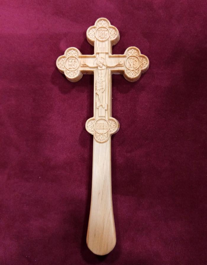 Православний Хрест різьблений малий 21.5х8.5см з вільхи