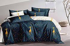Полуторный комплект постельного белья 150*220 сатин (15675) TM КРИСПОЛ Украина