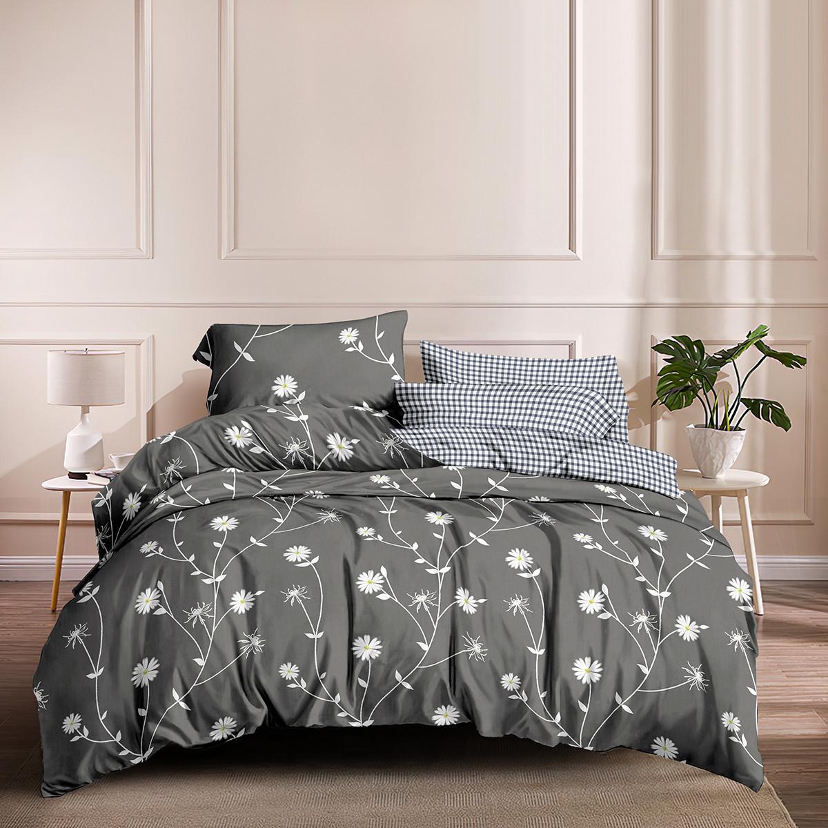 Двуспальный комплект постельного белья 180*220 сатин (15684) TM КРИСПОЛ Украина