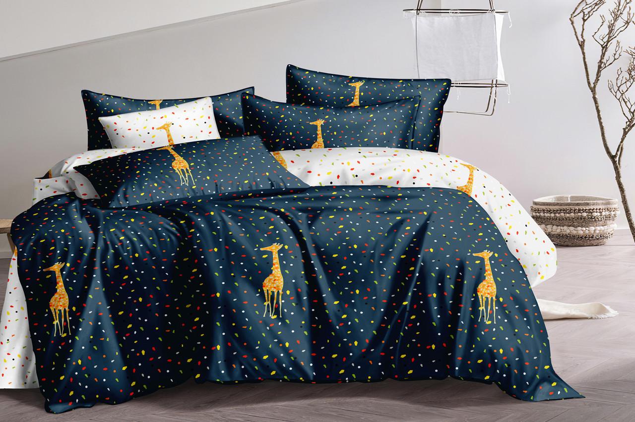 Двуспальный комплект постельного белья евро 200*220 сатин (15687) TM КРИСПОЛ Украина