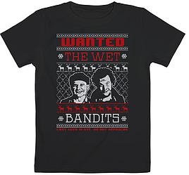 "Детская футболка ""Home Alone - Wanted The Wet Bandits"" (чёрная)"