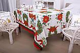 Скатерть Новогодняя 120-150 «Christmas Wreath», фото 2