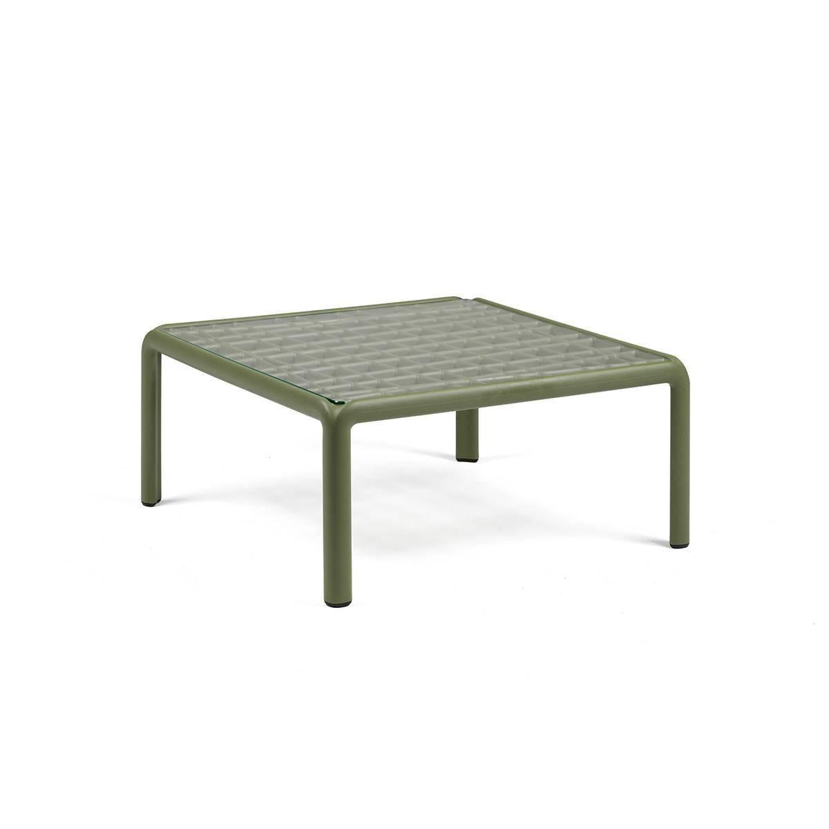 Журнальний столик  Komodo зі склом 70х70х32,5см agave