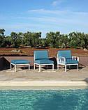 Журнальний столик  Komodo зі склом 70х70х32,5см agave, фото 4
