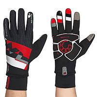 Велоперчатки зимние мужские Northwave X-Cellent Touch черно-красные L