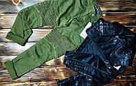 Джинсы детские зеленые, фото 1