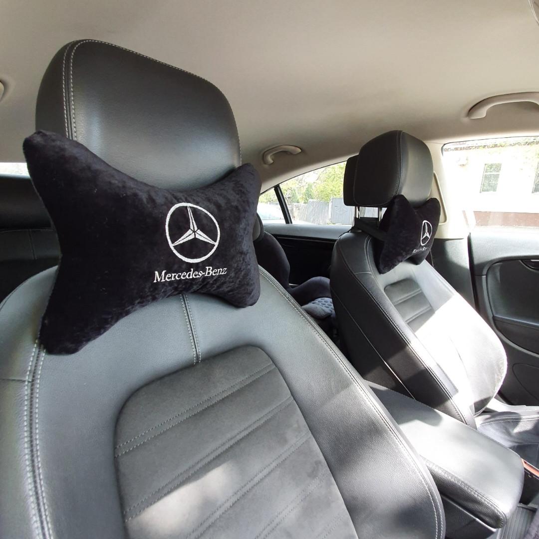 """Подголовник в машину с вышивкой """"Mercedec-Benz"""""""