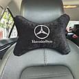 """Подголовник в машину с вышивкой """"Mercedec-Benz"""", фото 2"""