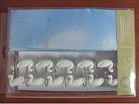 Шторки в ванную комнату Arya Ducks 180х180 лебеди