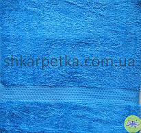 Рушник махровий синій
